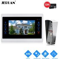 JERUAN 720P AHD HD Motion Detection 10 Video Door Phone Unlock Intercom System Record Monitor 1