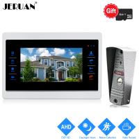 JERUAN 720P AHD HD Motion Detection 10 Video Door Phone Unlock Intercom System Record Monitor 1