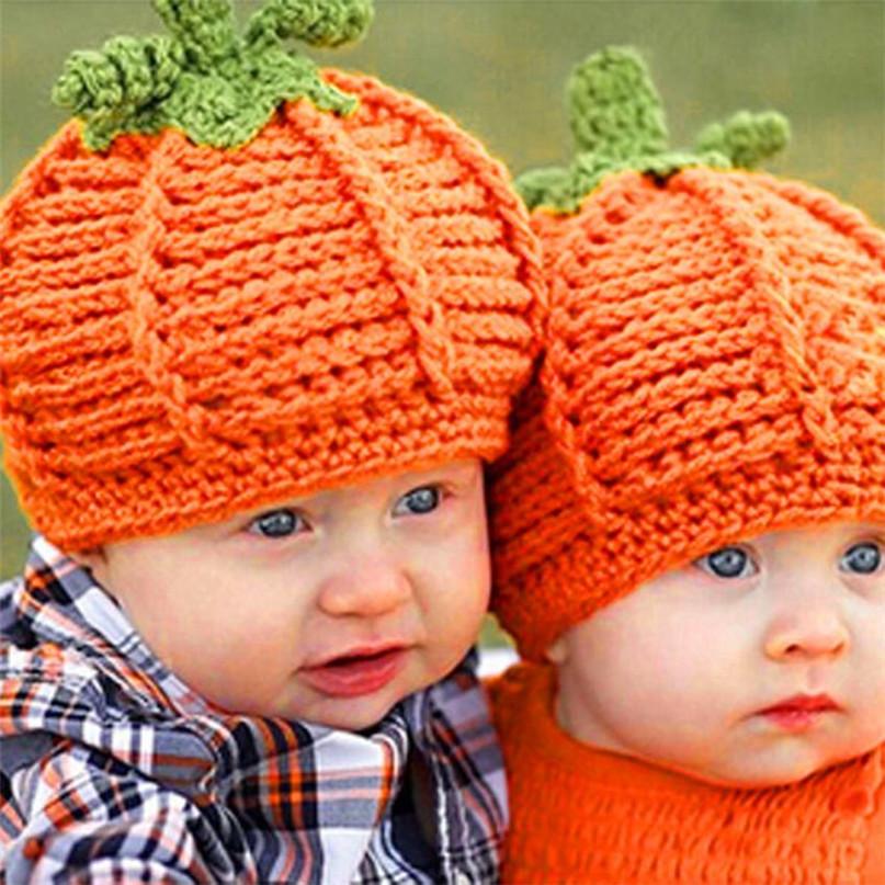 17 Cute Halloween Baby Hat Newborn Baby Pumpkin Cap Knit Hat Costume Photography Prop Dropshipping AG02 10