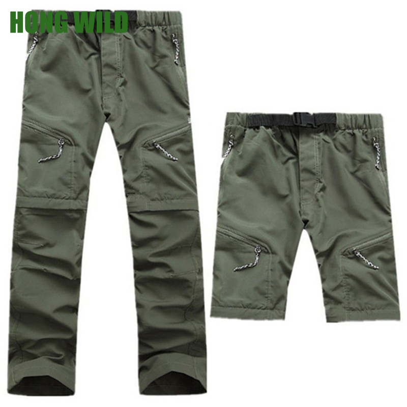 Hong wild Men Summer Casual Breathable Pants Trousers