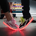 Unisex Amantes Luminosos Led Light Up Shoes 2016 Marca Usb brilham Schoenen Conheceu Licht Rosa Lazer Respirável Causal Sapato Para venda