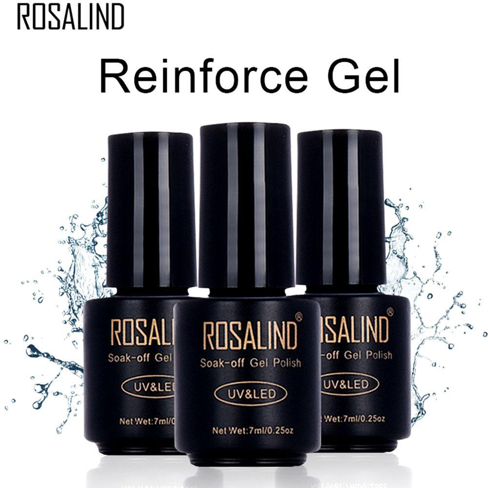 ROSALIND 7ml Reinforce Gel Polish UV Soak off Gel Lacquer Nail Reinforced Semi Vernis Permanent Nail Varnish Beauty Manicure