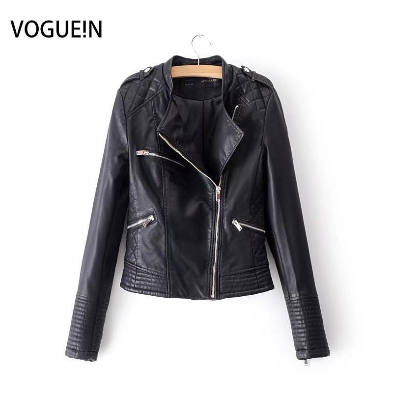 New Womens Black Quilted Faux   Leather   Motorcycle Bomber Jacket Outerwear Coat