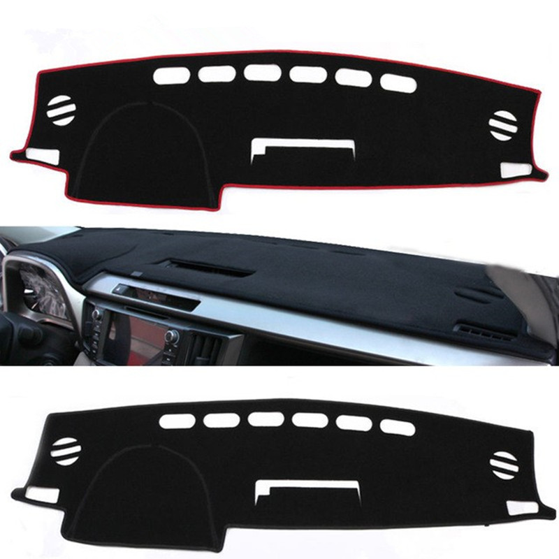Car Dashboard Cover For Toyota RAV4 XA40 2013 2014 2015 2016 2017 Dashmat Sun Shade Non-Slip Stiker Carpet Accessories Protector