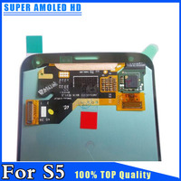 100 Warranty New LCD Display Touch Screen Digitizer For Samsung Galaxy S5 I9600 G900 SUPER AMOLED