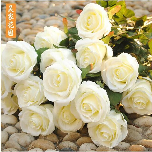 2014 New Styles Artificial Rose Silk Craft Flowers Real Touch