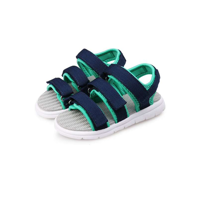 2018 Summer New Style Children Shoes Boys Girls Fashion cut-outs Sandals Kids Canvas Beach Sandals Breathable Flats Shoes mmnun 2017 boys sandals genuine leather children sandals closed toe sandals for little and big sport kids summer shoes size26 31