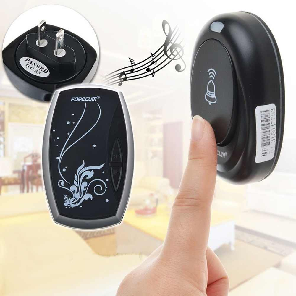 Door Bell Waterproof Wireless with 36 Chimes Single Receiver Waterproof Plug-in Type Doorbell Cordless Smart Home Door Bells
