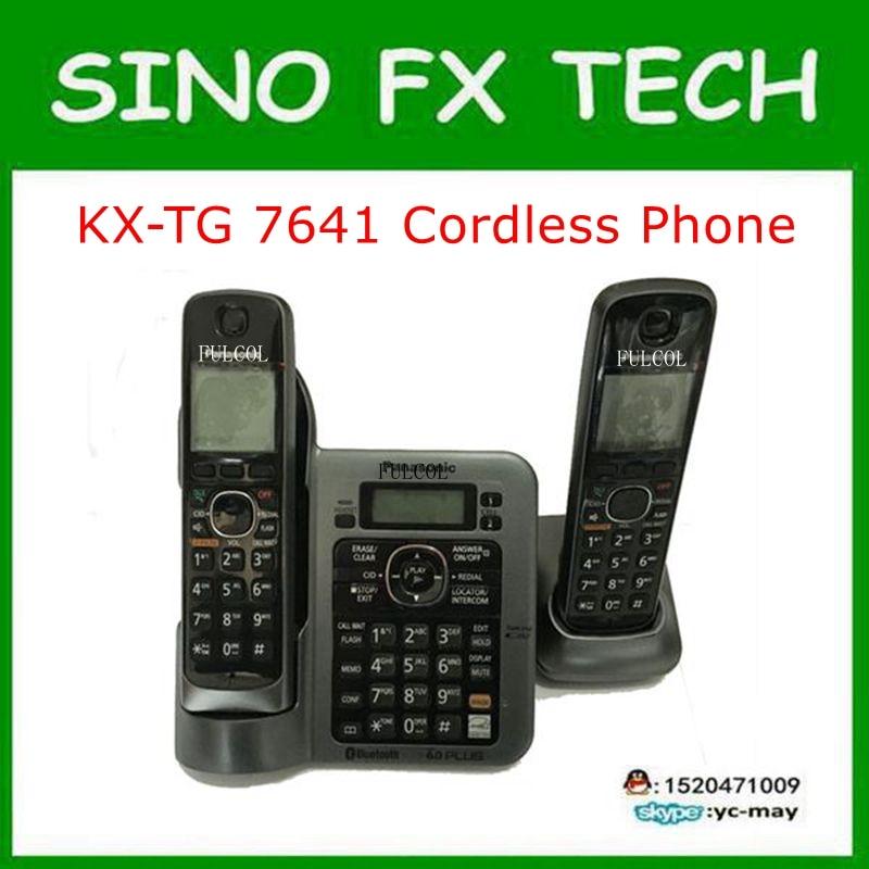 Original PHONE KX-TG7641T DIGITAL CORDLESS ANSWERIN SYSTEM 98% new TELEPHONE KX-TG7641T