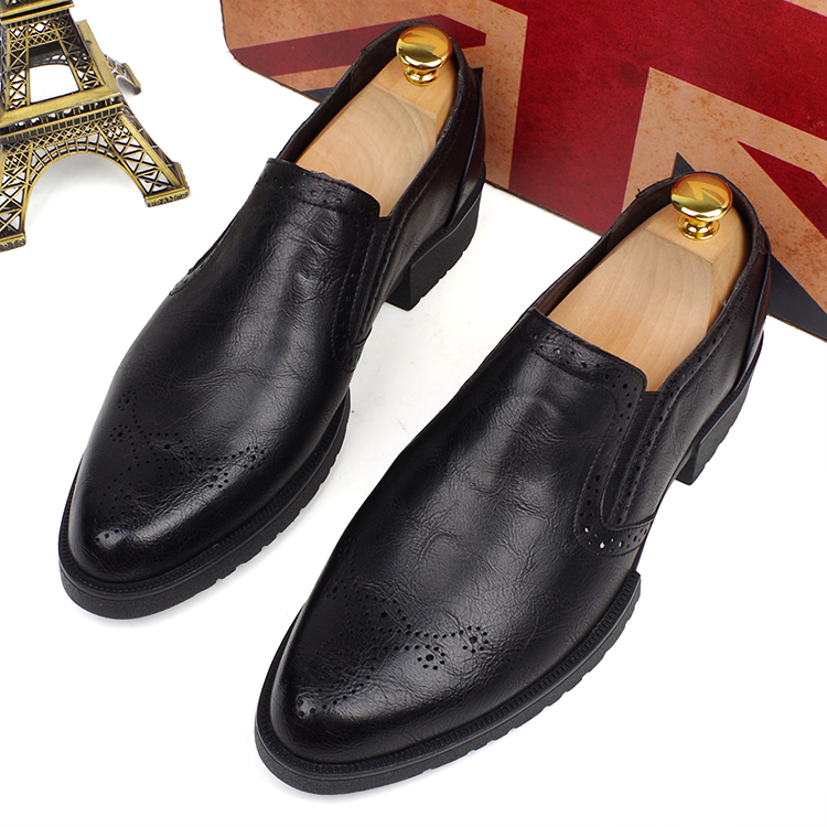 men fashion wedding party dress pointed toe soft cow leather bullock shoes spring autumn carved brogue oxfords shoe design homme 2016 spring autumn bullock men s oxfords shoes carved leisure shoes fashion retro pointed toe brogue shoes for men