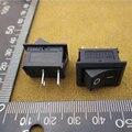 Бесплатная Доставка 100 шт. ВКЛ/ВЫКЛ Rocker Switch, 117 S 2-контактный 125V6A ON-OFF Черный Пластик Разъемы 2 Контактный новый оригинальный 30610