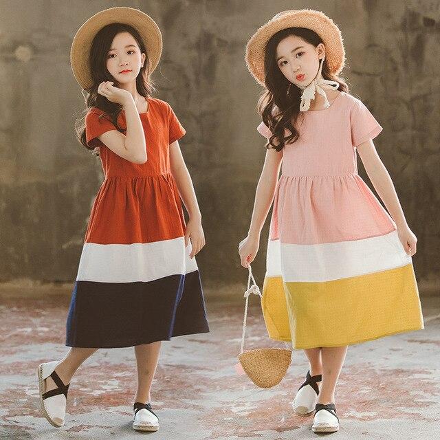 Vestidos infantiles para niñas 2020 nuevo vestido de algodón para bebés traje informal para madre e hija vestido de ocio para niños pequeños ropa de adolescentes, #5080
