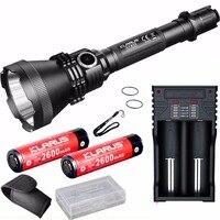 Охота фонарик Кларус xt32 комплект CREE XP l Hi V3 светодиодный Макс. 1200lm луч расстоянии 1000 м факел + 2 * батареи + K2 зарядное устройство