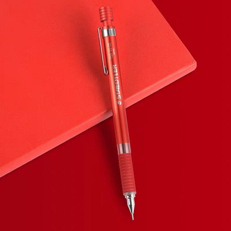 독일 staedtler 92535 05nw r 기계식 연필 레드 한정판 0.5 모든 금속 자동 연필 기계 연필 1 pcs-에서기계식 펜슬부터 사무실 & 학교 용품 의  그룹 1
