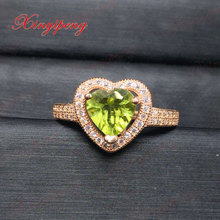 925 silver 100% natural peridot ring Ms. Female friendly gift gift mother