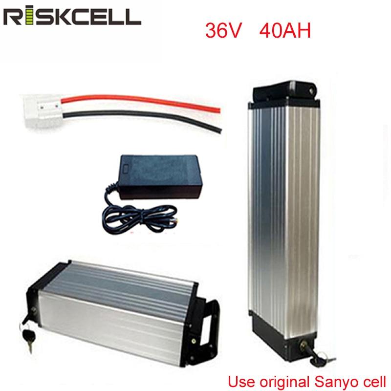 baterie pro elektrické kolo 36v 40ah lithium-iontová baterie s pouzdrem z hliníkové slitiny a nabíječkou pro buňku Sanyo