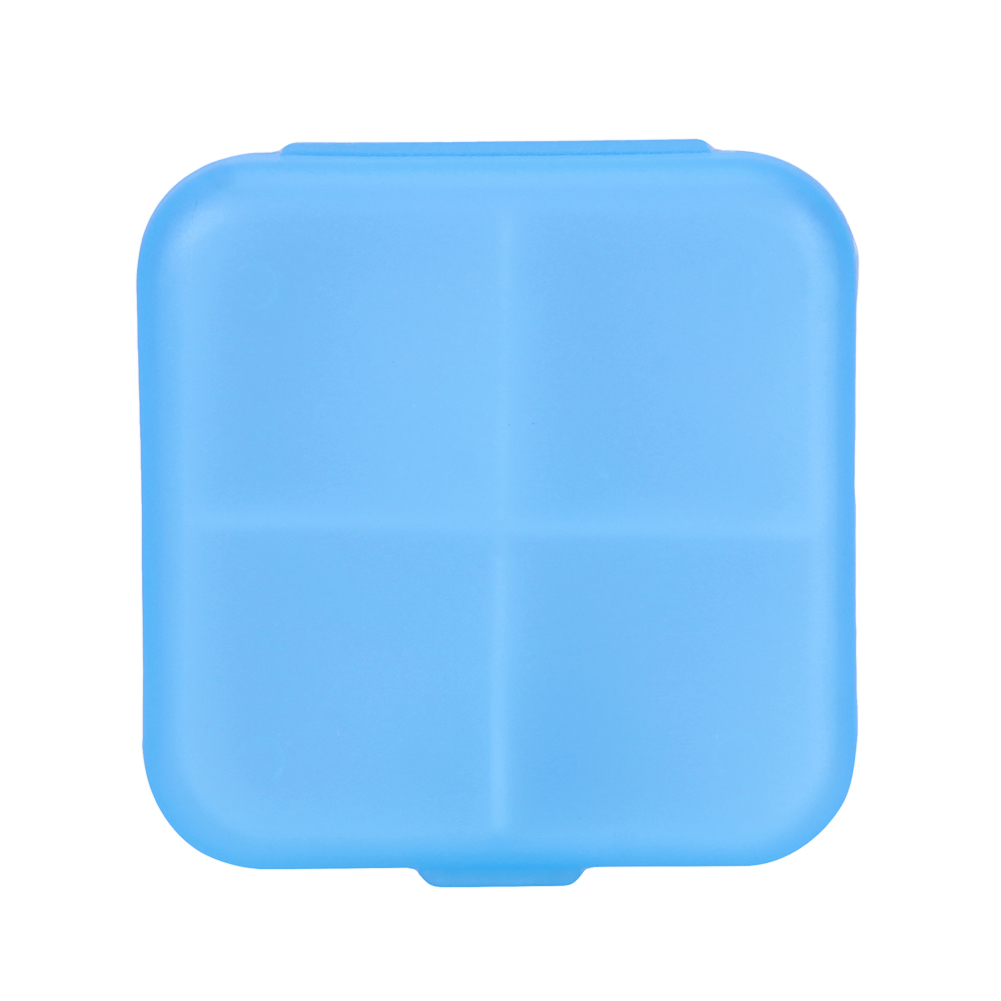 4 Slots Square Travel Pill Cases Outdoor Vitamin Cases Medicines Pill Box Portable Medicine Holder Pastillero 13