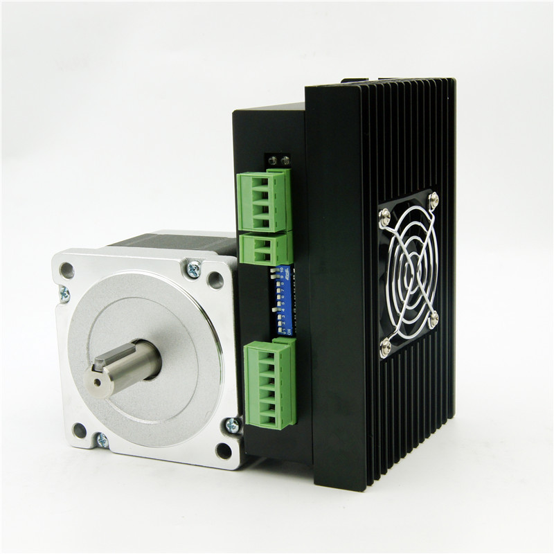 CNC 4 lead NEMA34 stepper motor J86HB65-04 472oz-in shaft diameter 14mm and Driver JB860M AC18-80V/DC24-110V 6.0A 256Micro