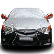 Waterproof Size M/L/XL SUV Full Car Cover Sun Snow Dust Rain Resistant Gray for Commercial Vehicles