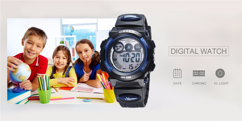 Fashion OHSEN Brand Sports Watches Children LED Digital Watch Kids Multifunctional Wristwatches Alarm Stopwatch Student Clock (33)