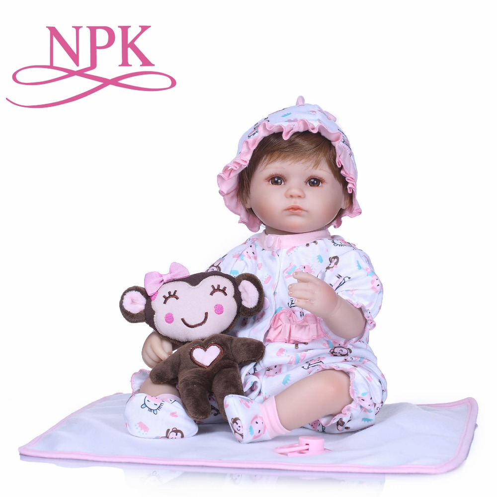 NPK 17inches Reborn Dolls Kids Toys Cute Princess Dolls Boy Girl Brinquedos Gifts Baby Accompany Toys Playmates Dolls on Xmas ...