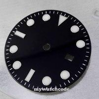 31.3mm nero luminous data Quadrante Dell'orologio per ETA 2836 Movimento 21