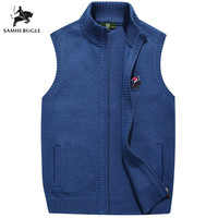 New Autumn Sweater Men Fashion Brand Clothing Casual Embroidery Cardigan Slim Zipper Knitting Mens Sweaters Vest