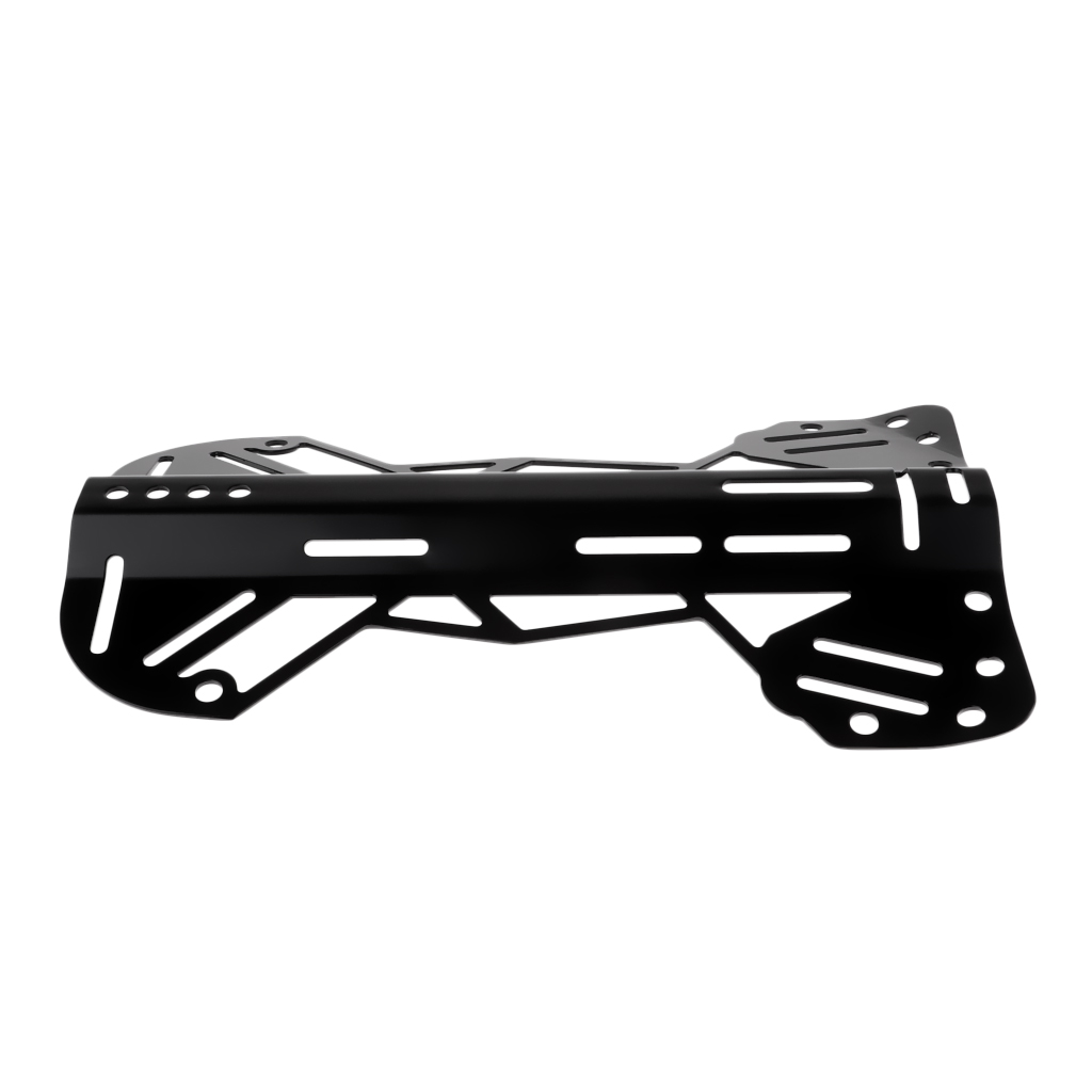 Plaque arrière en aluminium forte pour le remplacement de vitesse de système de harnais de BCD de plongeur de plongée, noir - 5
