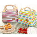 Waterproof Baby Bag Cooler Bags Thermal Warmer Insulation Picnic Lunch Package Fresh Food Ice Stripes Infant Thermos Bottle Bag