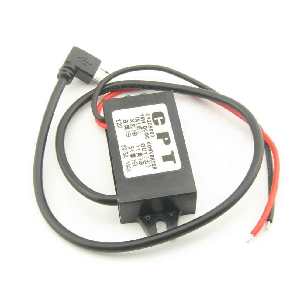 DC-DC Converter 12V to 5V 3A Step Down Power Supply Module Micro USB Converter High Quality
