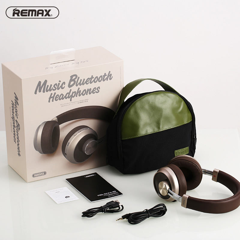 Remax 500HB Bluetooth V4.1 Headset HIFI Earphone Stereo Headband Noise Cancelling Head Phones for iphone xiaomi with Microphone - 6
