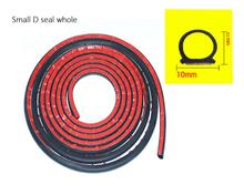 Dragonpad 5M D Shape Car Door Window Trim Edge Hollow Seal Strip Rubber Weatherstrip Car Accessories