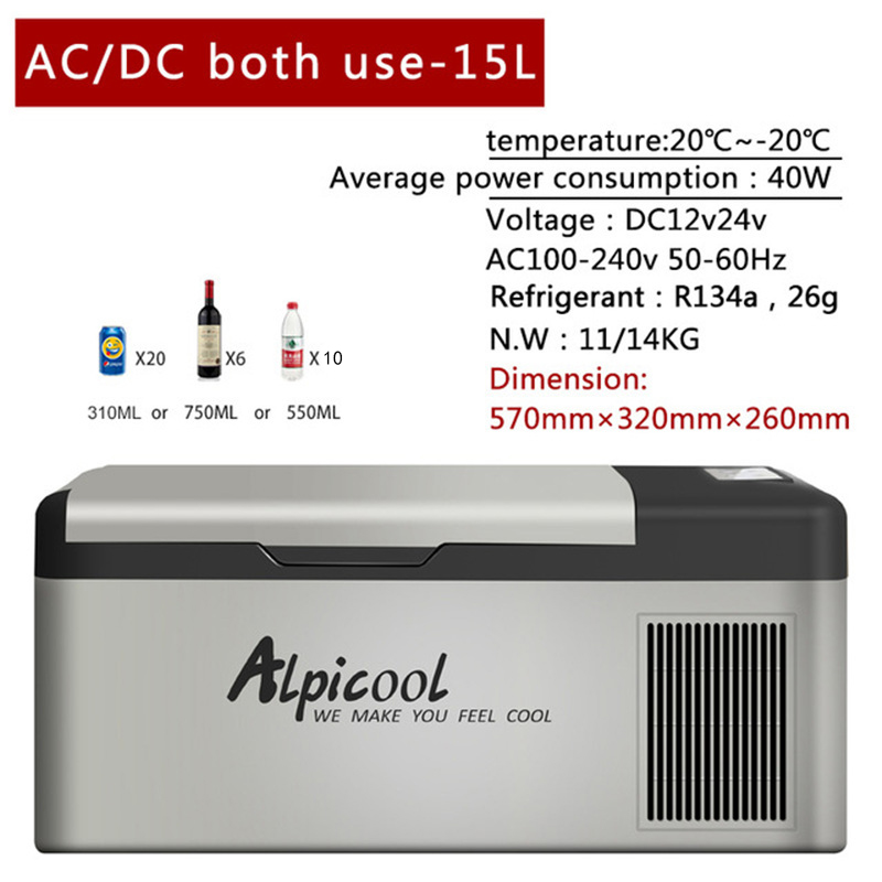 цена на -20 Degrees Freeze Fridge 15L High Quality 12V/24V Portable Compressor Car Refrigerator Multi-Function Home Cooler Freezer