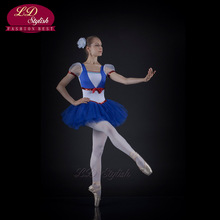 Professional Ballet Dress Gauze Hard Yarn Jumpsuit Blue Performance Stage Solo New Bluebird Adult Children LDStylish LD0010I