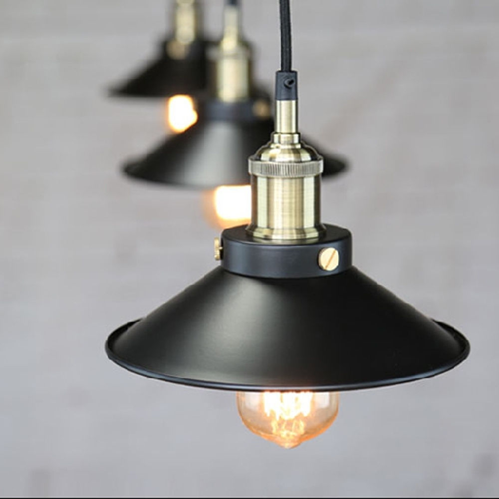 Becostar Edison Bulb Vintage Industrial hanging Lighting Lamp with E27 Holder PendantLight Fixtures size Dia22cm in Pendant Lights from Lights Lighting