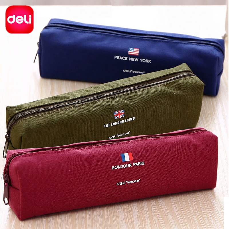 Deli Simple Style Pencil Case Pencil Bags Gift For Boys Girls Pen Holders School Supplies Stationery Pencil Box Colors Vary deli pencil case children multifunctional pencil box school student thomas plastic pen case stationery school supplies kids gift