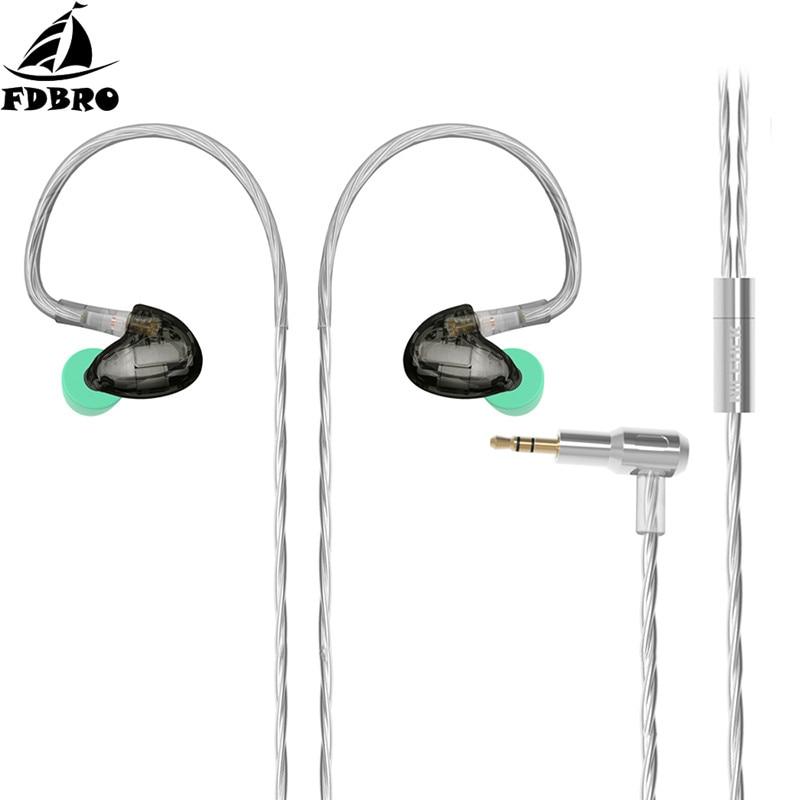 FDBRO DT600 6BA unité d'entraînement dans l'oreille écouteur 5 Armature équilibrée détachable détacher MMCX câble pour HIFI musique jeu Gym course