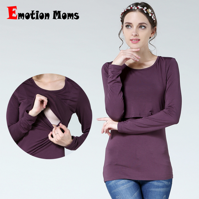 90dd8a1173d Emotion Moms New Maternity clothes Nursing Top Breastfeeding Tops pregnancy  clothes for Pregnant Women Fashion Maternity T-shirt