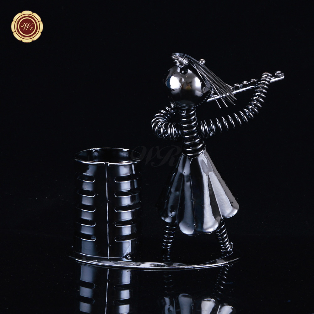 Arts and crafts supplies cheap - Wr Cheap Arts And Crafts Supplies Flute Musician Player Art Pen Holder House Decoration China
