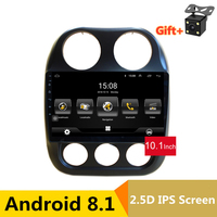 10.1 2.5D IPS Screen Android 8.1 Car DVD GPS For JEEP COMPASS 2010 2011 2015 2016 audio car radio stereo tape recorder wifi