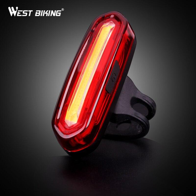 WEST BIKING USB Перезаряжаемые огни велосипеда горный Предупреждение свет светодиодный супер яркий изменение Велосипедный Спорт Велоспорт зарядка через USB фонарь