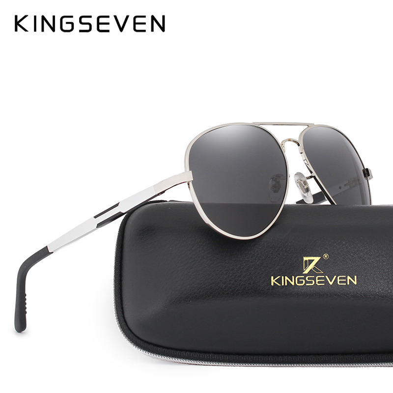 84b8ae2883 KINGSEVEN Men HD Polarized Sunglasses Aluminum Magnesium Driving Sun Glasses  Men s Classic Brand Sunglasses Accessories