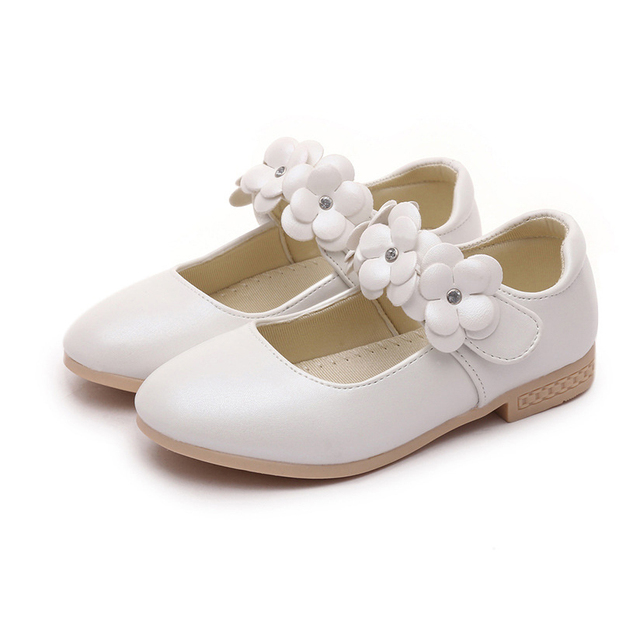 9075aaf791c25 COZULMA Children Casual Shoes Baby Girls White Leather Shoes Girls Mary Jane  Bow Flower Dress Shoes Kids Princess Dance Shoes