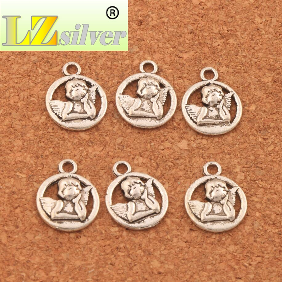 Baby Angel Of Caring Charm Beads 16 5x13 1mm 45PCS Antique Silver Pendants Jewelry DIY L125