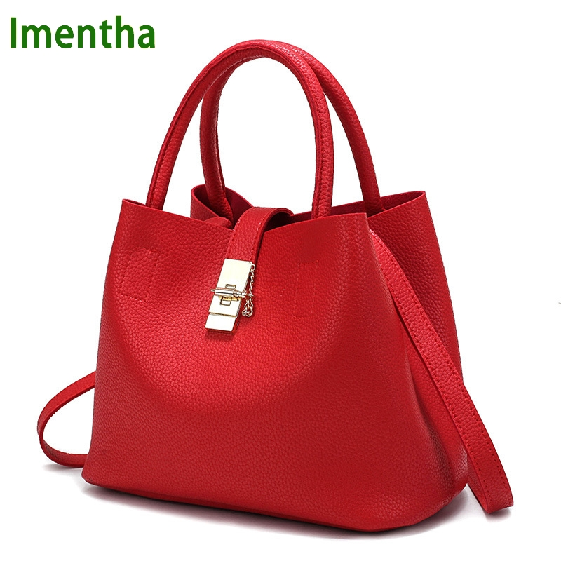 Popular Red Handbag Leather-Buy Cheap Red Handbag Leather lots ...