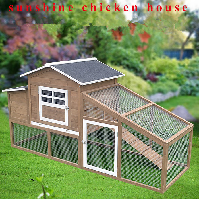 Outdoor Solid Wood Chicken Egg House Chicken Rabbit Cage Bird Pigeon Cage Coop Nest Henhouse Roost Aviary Bird House Free Shippi