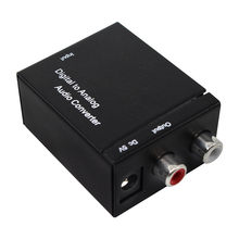 Digital To Analog Audio Converter Digital Optical Coaxial RCA Toslink Signal to Analog Audio Converter Home Theater For DVD TV цены