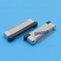 2000pcs/lot FPC Connector 0.5mm Spacing 20P Down Up Contact Drawer Pull 0.5 20P Cable Socket
