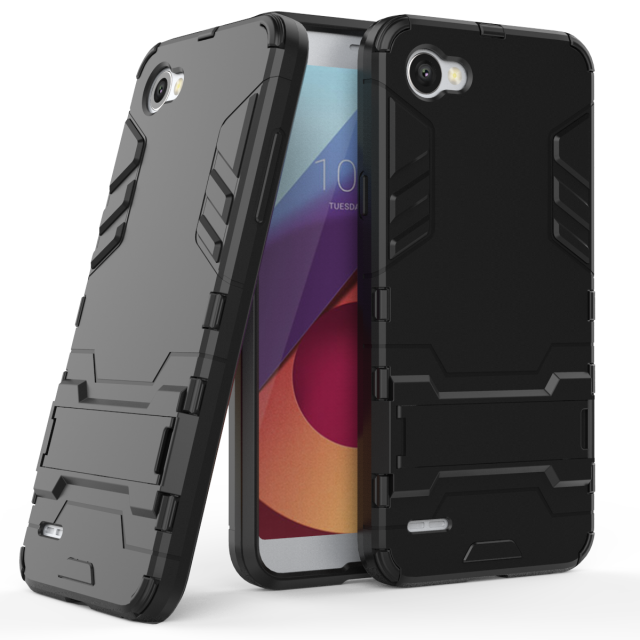 Case For LG Q6 Plus Silicone PC Hard Armor Cover Cases For LG Q6 MOBILE