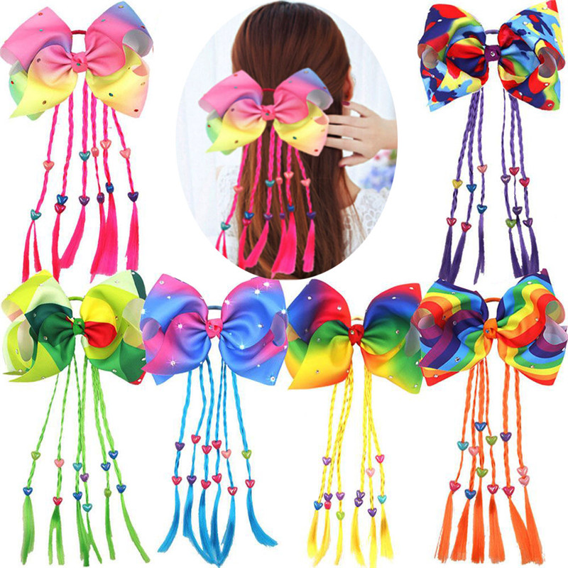 1 pcs 8 colorful rainbow hair